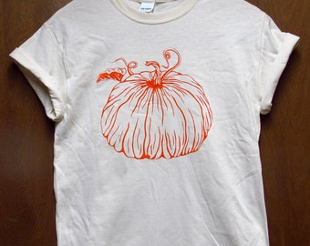 Pumpkin Shirt, Screen Printed Vegetable T-Shirt