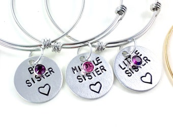 3 Sisters bracelet, sister bracelet for 3, Three sisters, Three best friends, 4 sister bracelet, 4 sister jewelry, gift for her