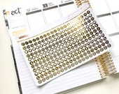 Gold Foiled Functional Planner Icons Stickers (perfect for planners) #GFI-007