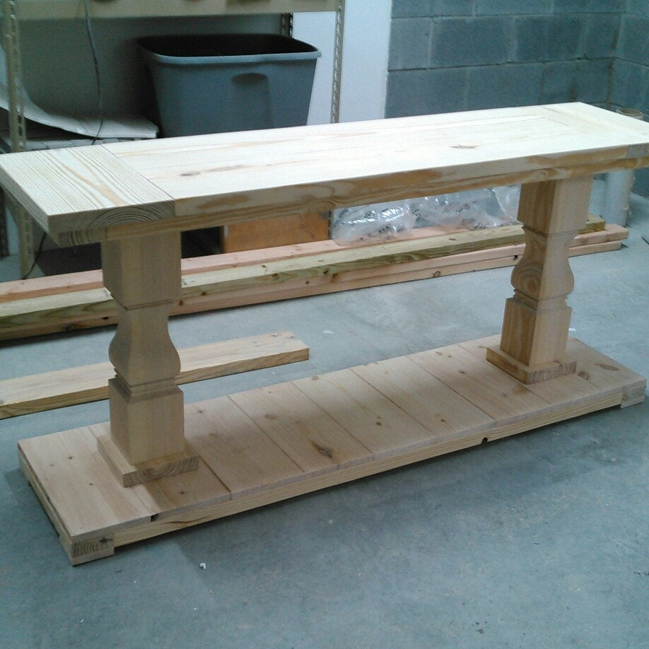 Square Balustrade Leg Coffee Table Etsy