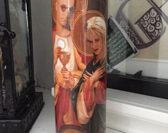St Mickey Mallory NBK valentines day Prayer Candle
