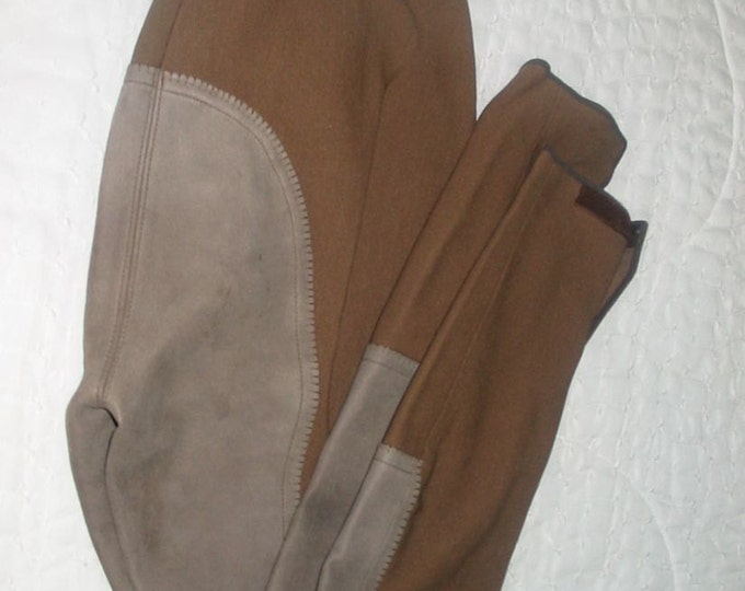 Pikeur Full Seat Brown Ribbed Breeches Ladies size 28L