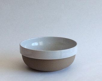 Vintage Midwinter Stoneware Natural Large Serving Bowl Made in England