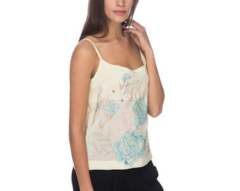 SCT029 - Hand Embroidered Silk Tank Top