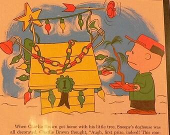 1965 Charlie Brown Christmas Matted Vintage Peanuts Print