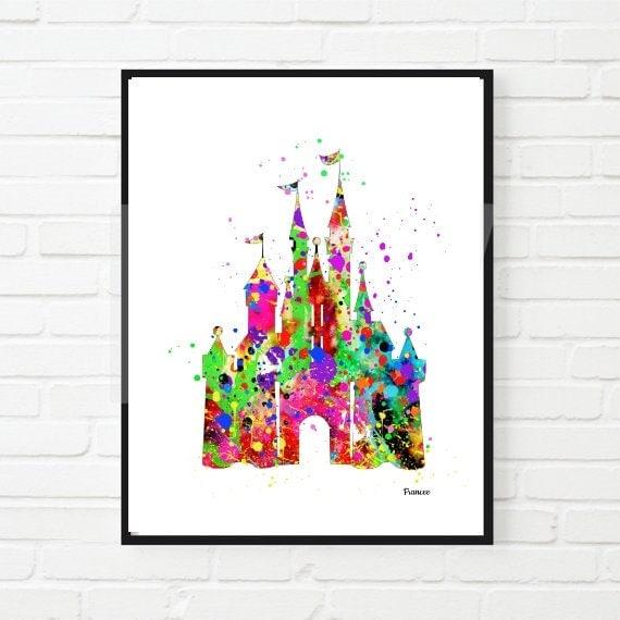 Inspirado en Cenicienta Disney princesa Castillo Disney
