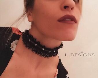 choker necklace with diamonds