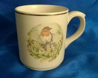 Poole Pottery China Mug Robin Redbreast