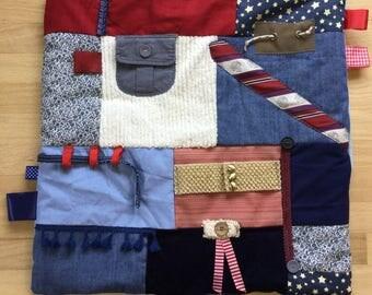 Alzheimer's Blanket | Alzheimer's Symptoms | Fidget Quilt | Alzheimer's Quilt | Fidget Blanket | DRESSED Up DAD by Restless Remedy