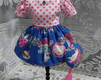 A-hui Blythe dress 0040 Hedgehog
