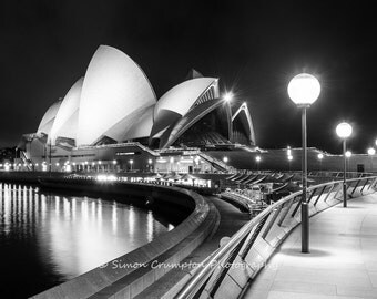 Sydney Opera House - Australia - Landscape - Fine Art Print - Black & White