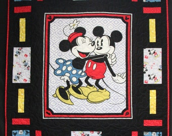 Mickey and Minnie Quilt Kit- Vintage Mickey & Minnie Fabric- Springs Creative- 100% Cotton Fabric