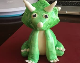 Triceratops Cake Topper