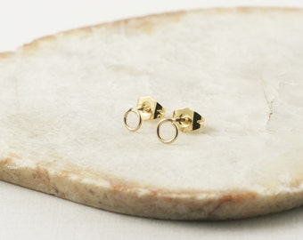 Gold Circle Stud Earrings - Stud Earrings Gold - Circle Earrings - Stud Earrings - Gold Circle Earrings - Tiny Stud Earrings - Circle Earing
