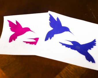 Hummingbird vinyl, hummingbird sticker, bird vinyl, wall vinyl
