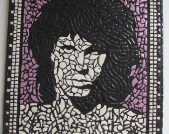 Jim Morrison The Doors mosaic handcrafted picture art U.K Artist design art