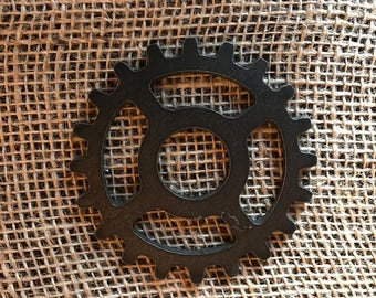 Gear / Steampunk Gear /  Cog / Decorative Gear / Sprocket / Steel Gear / Steel Cog / Coaster / Wall Decoration / Industrial Gear /