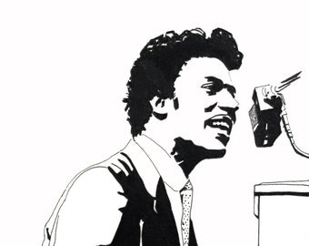 Little Richard hand-drawn drawing / painting