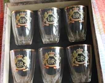 Coronation Glasses 1953, set 6