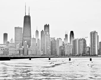 Fine Art Print, Chicago Skyline, North Beach View, Spring, Cityscape, Chicago Print, Travel Photography, Large Wall Art, City Print
