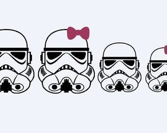 Storm Trooper Family Decal