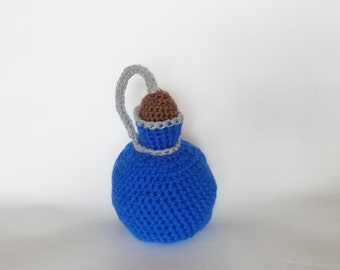 Crochet Potion Bottle Dice Bag, Mana, Health, Poison