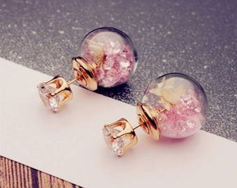 Gorgeous glass globe earrings