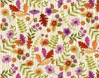 Enchanted by Studio E - Flowers Cream - Cotton Woven Fabric
