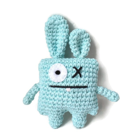 Amigurumi Ugly Doll : Amigurumi Doll Bunny Blue Stuffed Rabbit Crochet Doll