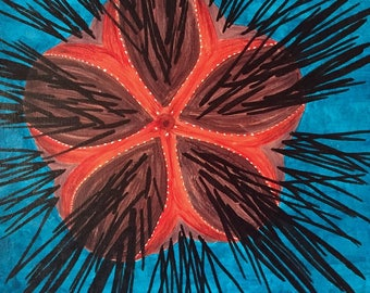 Original Painting: Fire Urchin