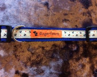 Large Handmade Adjustable Dog Collar