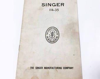 Singer Sewing Machine 114-35 Manual