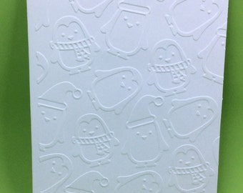 Set of Embossed Penguins Card