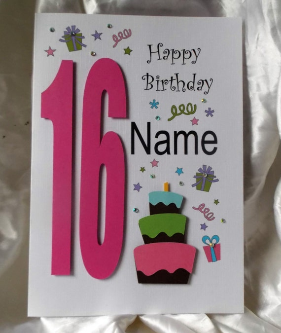 Personalised Handmade 13th16th 18th 21st Any Age Birthday