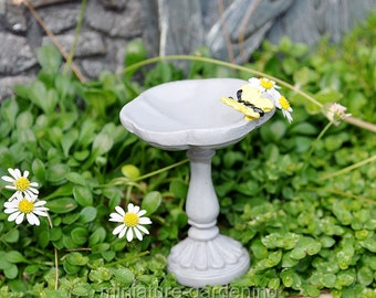 Butterfly Birdbath Pick for Miniature Garden, Fairy Garden