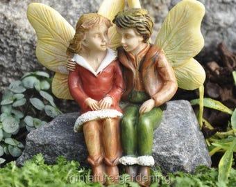 Winter Friends Fairies for Miniature Garden, Fairy Garden