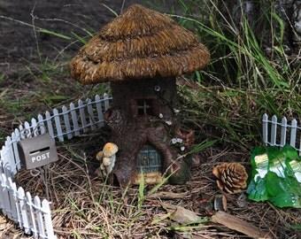 Fairy House Tree Stump+Fairy Garden Figurine+Fairy Garden Miniatures+Fariy Garden House+Fariy Garden Accessories+Fairy Garden Supplies