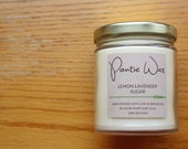 Lemon Lavender Sugar | Soy Wax Candle | 8.5oz Candle | Sweet & Refreshing