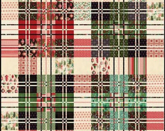 Jolly Tartan - Christmas/Holiday Quilt Pattern, New for 2017 -  by BasicGrey