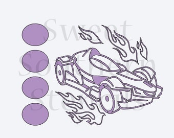 Race Car PYO Cookie Stencil