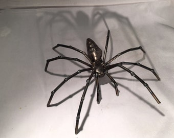 Upcycled Orb-weaver spider sculpture