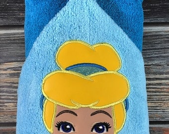 Handmade Cinderella Hooded Towel BIrthday Gift Birthday Idea