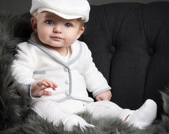 Boys Christening Outfit 'Peter', Boys Baptism Outfit
