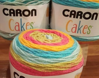 Caron Cakes Rainbow Sherbet Yarn