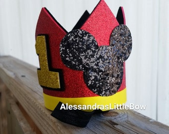 mickey mouse crown Mickey mouse birthday crown Mickey mouse birthday hat Mickey mouse headpiece boys Mickey mouse birthday outfit