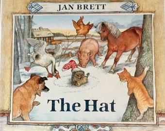 Vintage The Hat Jan Brett Hardcover Children's Book