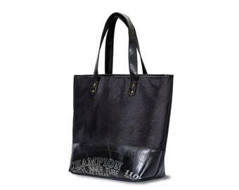 Canvas recycled tires bag, rubber bag, recycled bag,