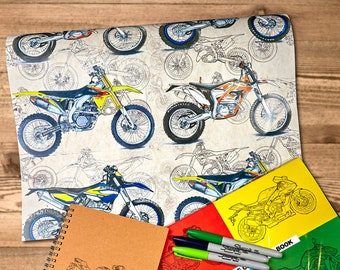 "Dirty Dirt Bikes Gift Wrap | A2 - 16.5 x 23.4in"" / 42cm x 59cm 