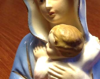 Mary/Jesus Figurine porcelain Japan equate Virgin and child/Madonna / mother of God