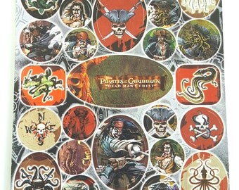 Disney Pirates of the Caribbean - Dead Man's Chest // Pirates Birthday - 1 sheet - 35 Stickers